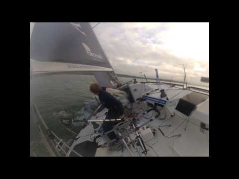 Artemis Offshore Academy solo sailing winter training with Robin Elsey