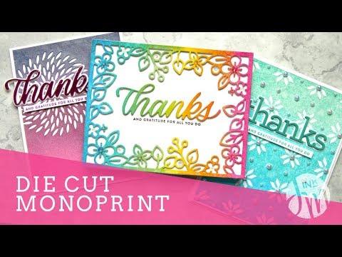 Die Cut Monoprint