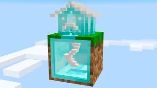 I built a DIAMOND HOUSE on 1 block Skyblock... (#16)