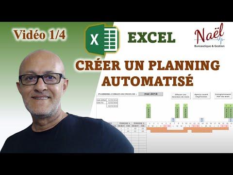Excel Planning Congés Automatisé, Fonctions CHOISIR, NO.SEMAINE, JOURSEMAINE...