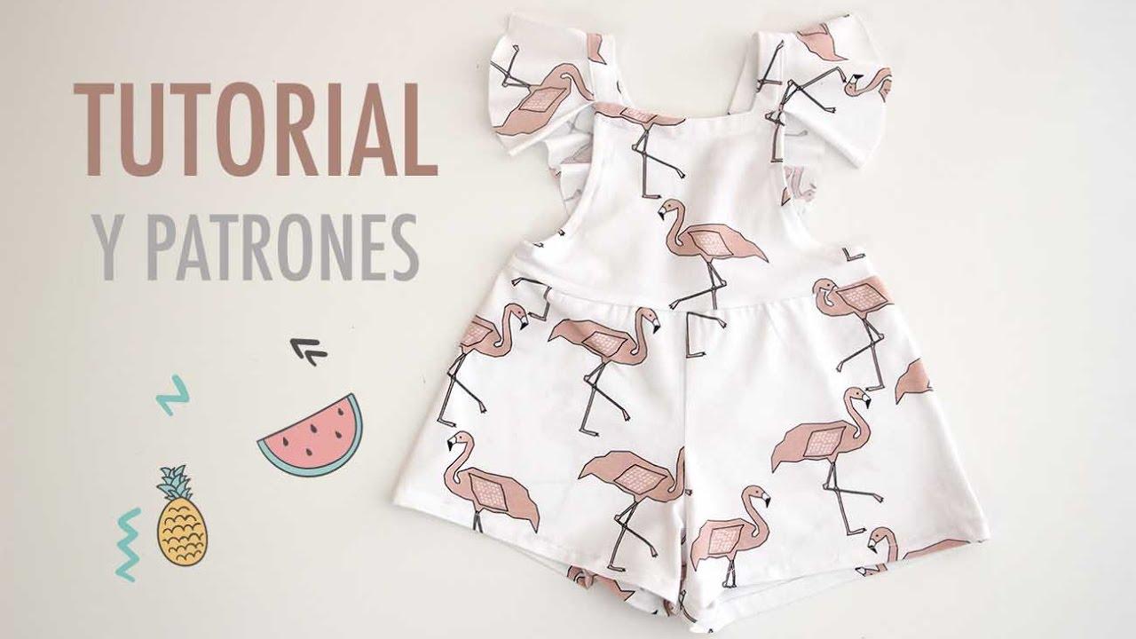 DIY Costura y patrones mono de flamencos (ropa para niños) - YouTube