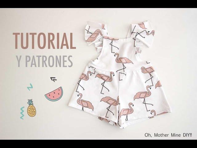 DIY Costura y patrones mono de flamencos (ropa para niños ...