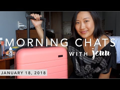 Morning Chats | My Travel Essentials (Away carry-on, Thinx period underwear + more)
