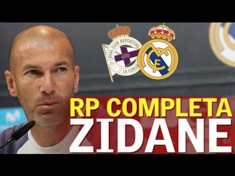 Deportivo - Real Madrid | Rueda de prensa de Zinedine Zidane | Diario AS