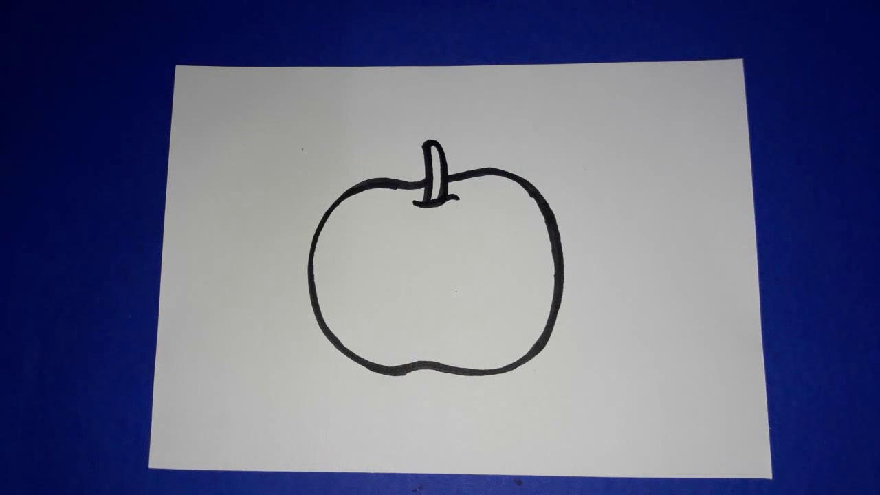 How To Draw Apple Drawing For Kids Easy Step By Step Drawing For