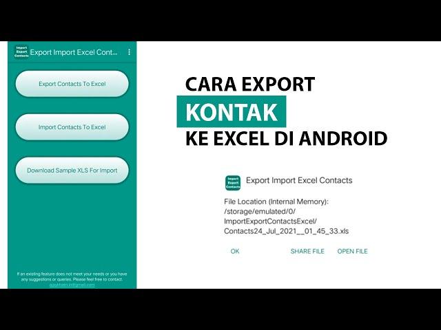 Cara Export Kontak ke Excel di Android