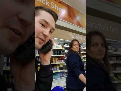 Tesco Worker Sees Funny Side of Phone Prank