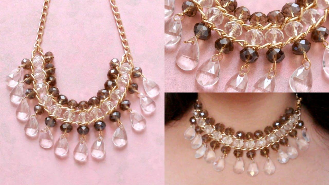 cbcb3a6bcfa7 DIY - Collar facil con cadena   EASY NECKLACE ♥ - YouTube