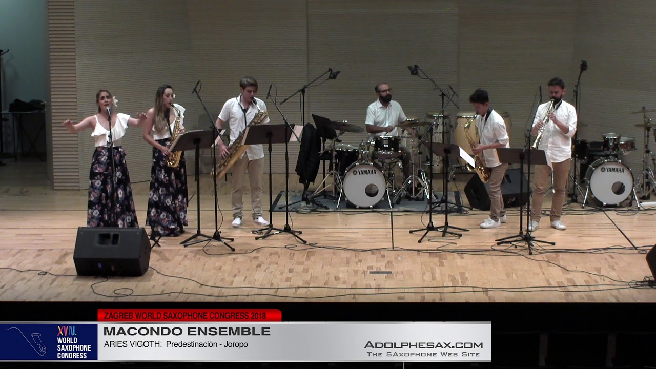 Predestinacion by Aries Vigoth   Macondo Ensemble   XVIII World Sax Congress 2018 #adolphesax