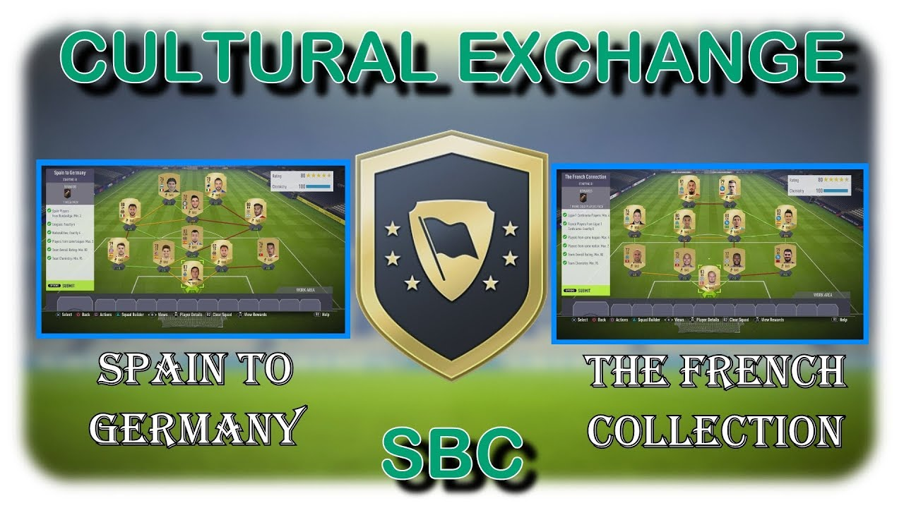 fifa 18 cultural exchange sbc spain to germany the french connection cheap easy youtube. Black Bedroom Furniture Sets. Home Design Ideas