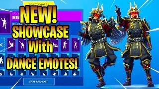 *NEW* SHOGUN SKIN SHOWCASE With DANCE EMOTES! Fortnite Battle Royale
