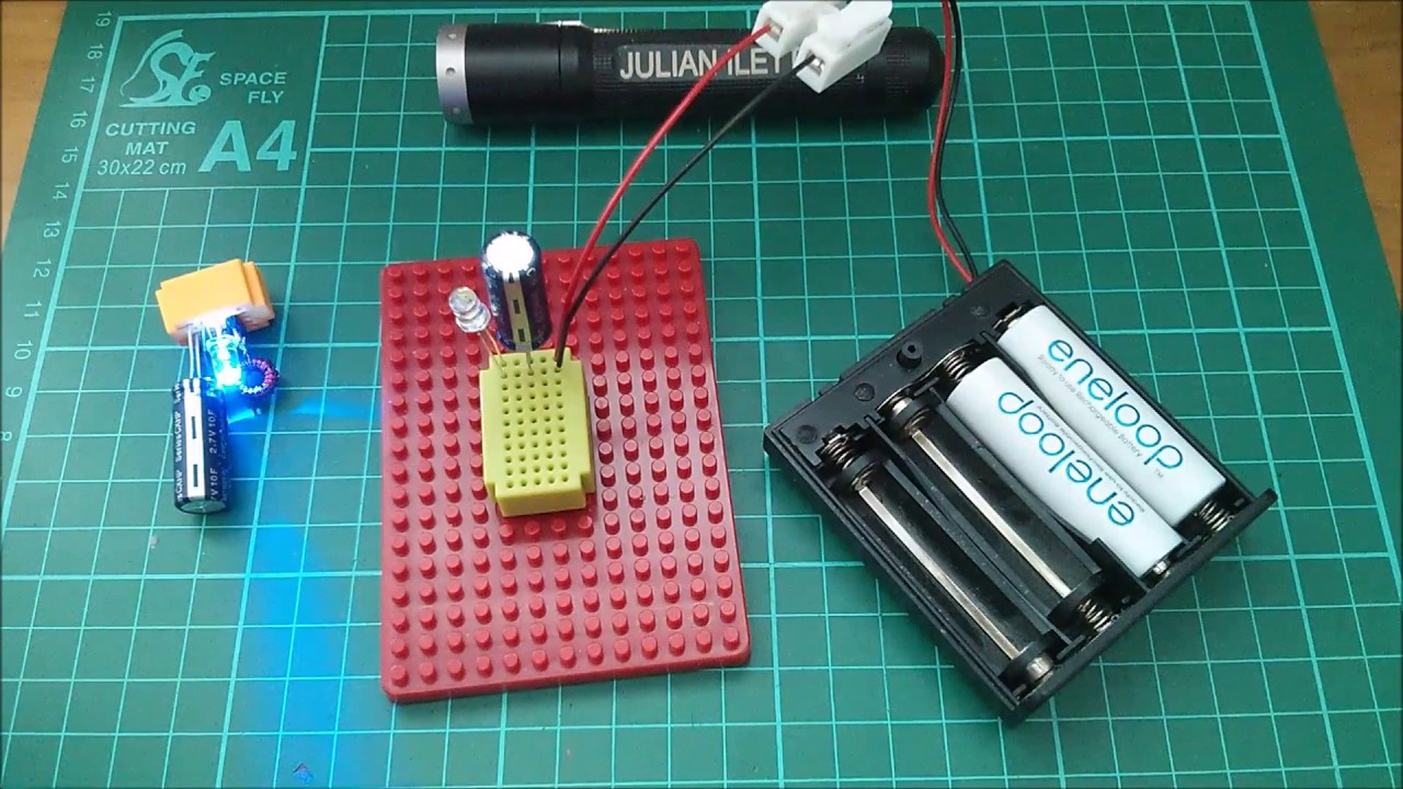 Quick and Dirty 2 5V Supercapacitor Charger