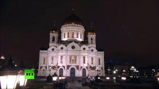 Патриаршее богослужение в храме Христа Спасителя в честь Рождества Христова