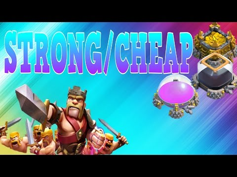 CLASH OF CLANS - WORLDS STRONGEST/CHEAPEST ATTACK STRATEGY!