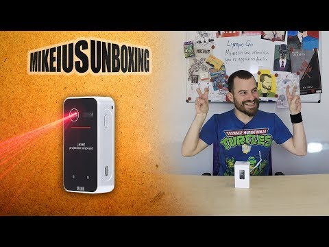 Bluetooth Laser Projection Virtual Keyboard - Mikeius Unboxing