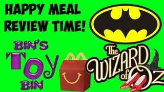 Batman & The Wizard of Oz (2013) Happy Meal Review Time! Plus, Shout Outs! by Bin