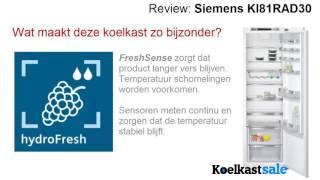 Siemens KI81RAD30 review koelkast