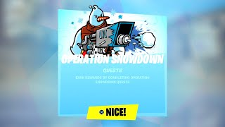 Fortnite All Operation Snowdown Challenges Guide - How to Unlock Snowmando & All Free Rewards