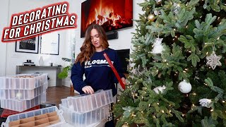 decorating for christmas! vlogmas day 1