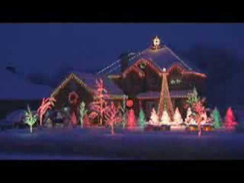 Illuminations de no l pour une maison techno youtube - Maison decoree pour noel ...