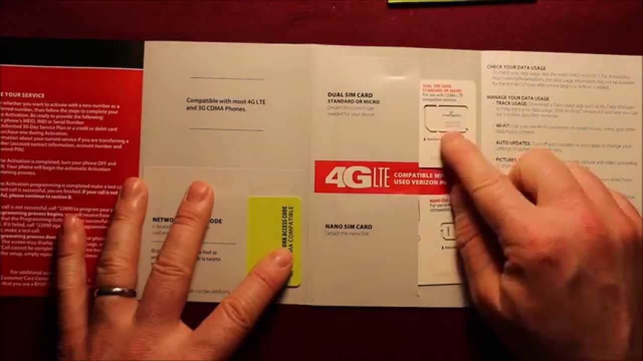 Straight Talk Verizon 4G LTE SIM Activation Kit BYOP