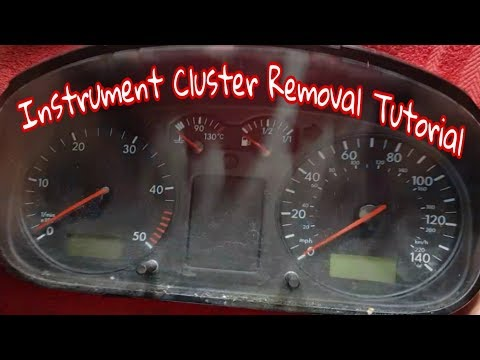 Removing an instrument cluster vw t4 transporter - YouTube