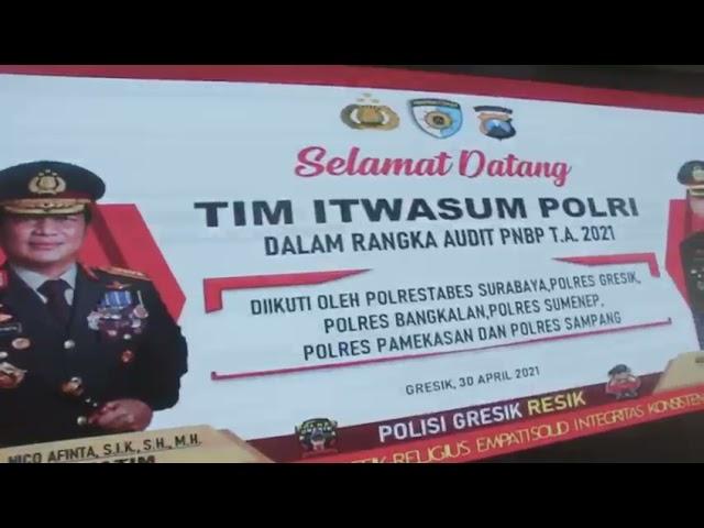 Polres Gresik Menerima Kunjungan Tim Audit PNBP Itwasum Polri