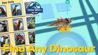 HOW TO FIND ANY DINOSAUR IN JURASSIC WORLD ALIVE