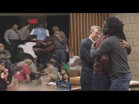 Plantation Slave Hug & Forgives Oppresor For Assaulting Him At Trump Rally