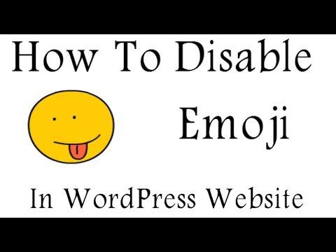 How To Disable Emoji In WordPress Website