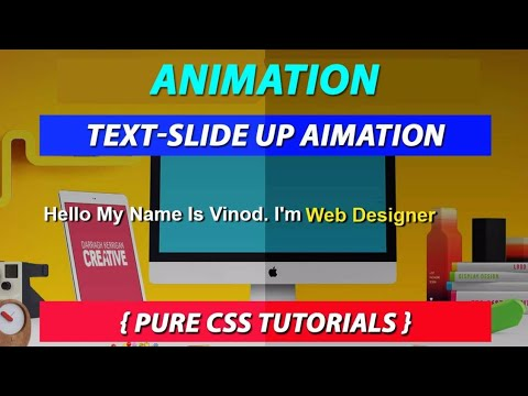 Slide Up Text Using Only Pure CSS Create by VRPawar