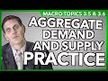 Aggregate Demand and Supply Practice