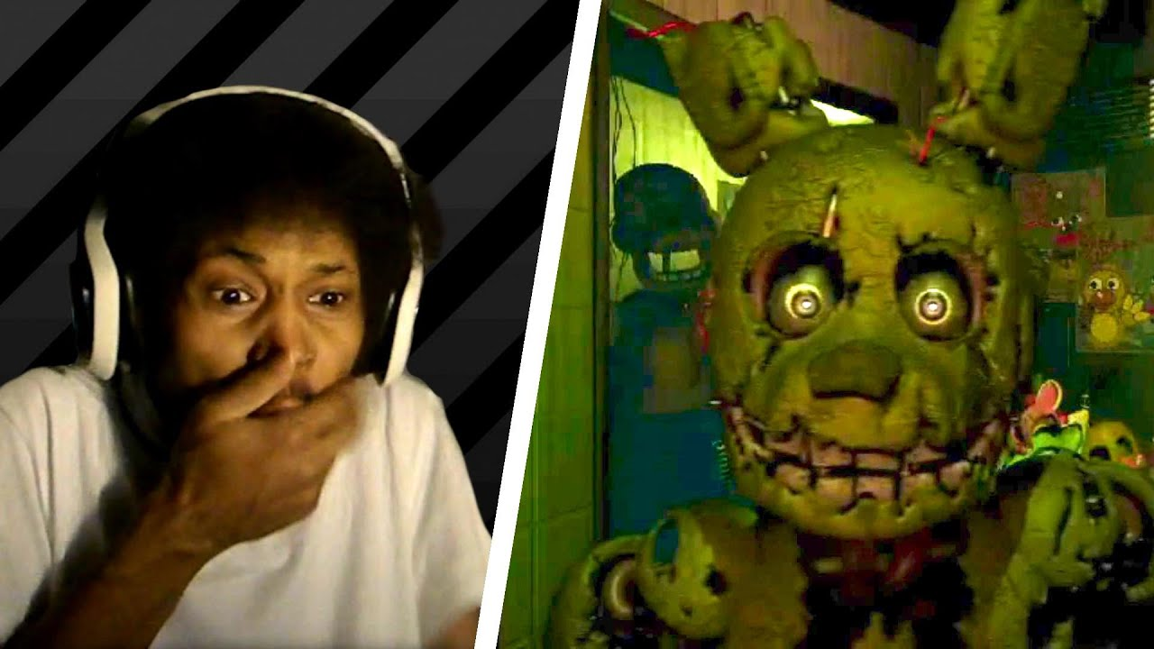 Five nights at freddy s 3 trailer live reaction golden bunny
