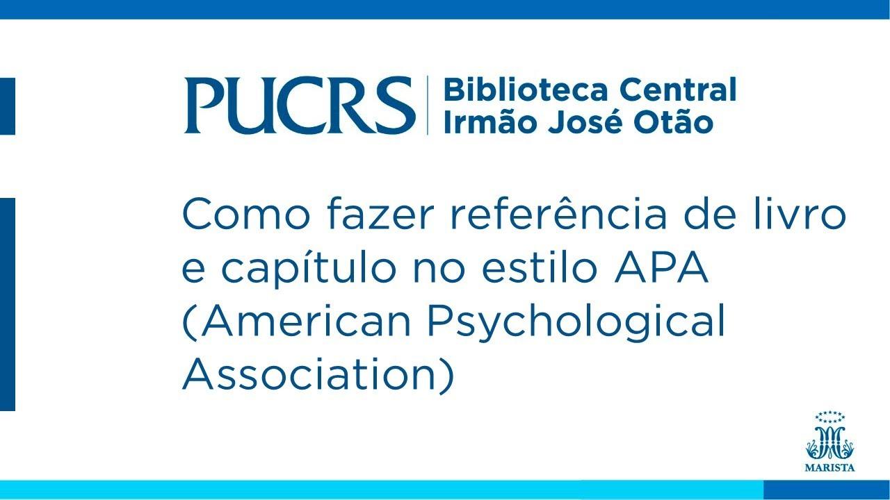 Como fazer referência de livro e capítulo no estilo APA (American Psychological Association)