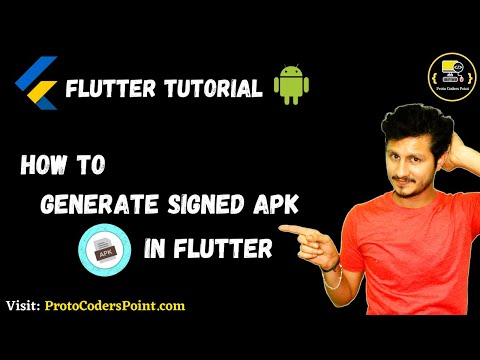 How to Generate Signed apk in flutter android studio