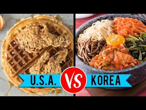USA vs. South Korean Food