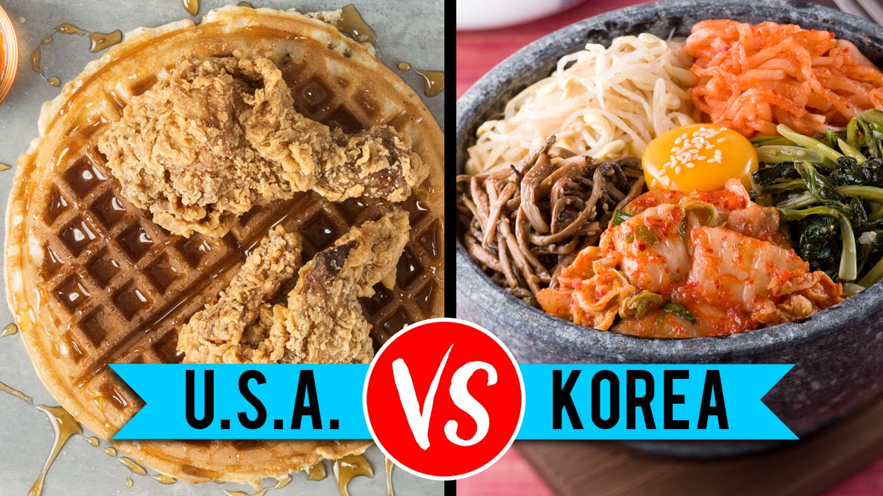Usa vs south korean food youtube for Asian american cuisine