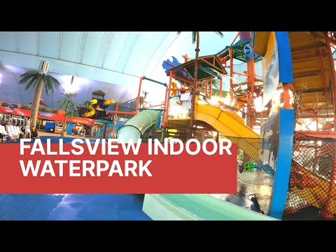 Fallsview Indoor Water Park In 4k | Sheraton By The Falls | Christmas In Niagara Falls| 4K