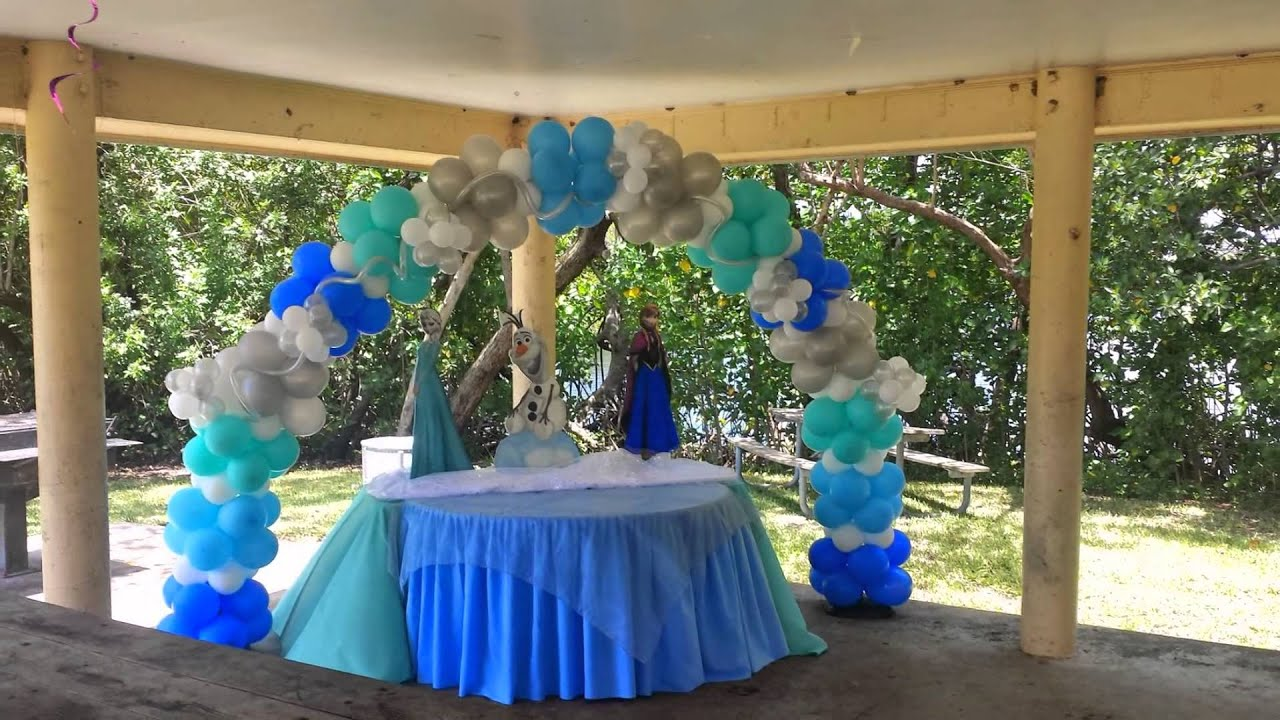 Frozen Balloons Decorations Party Rental Miami   YouTube