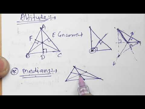 //14//Altitudes and Medians of a triangle,class 8th Mathematics, Practice set 4.1 part 1, Hindi