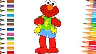 Sesame Street Colouring Elmo Speed Coloring Pages for Kids