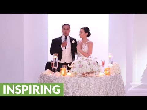 Groom surprises bride with Hamilton-inspired musical performance