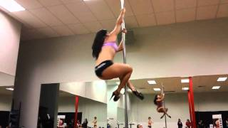 lindsey and tiffany pole dancing at ufc gym ladies night