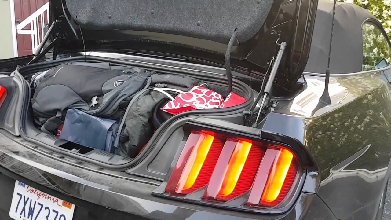 Mustang Trunk Space Youtube