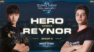 herO vs Reynor PvZ - Group C - 2019 WCS Global Finals - StarCraft II