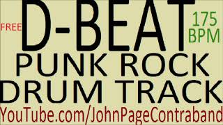 D Beat Punk Rock Drum Track FREE DRUMS ONLY