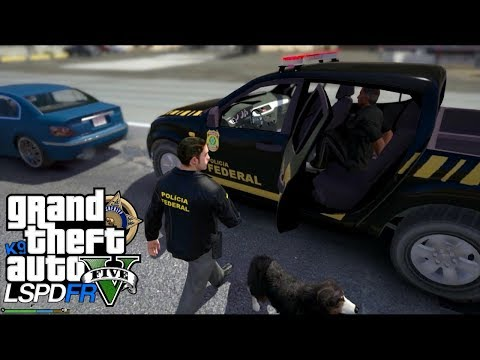 GTA V : MOD POLICIA : BLITZ POLICIAL DA POLICIA FEDERAL COM CÃO FAREJADOR : EP# 145