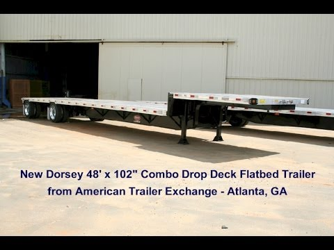 NEW Dorsey 48\' Drop Deck Combo Flatbed Trailer Walkaround - YouTube
