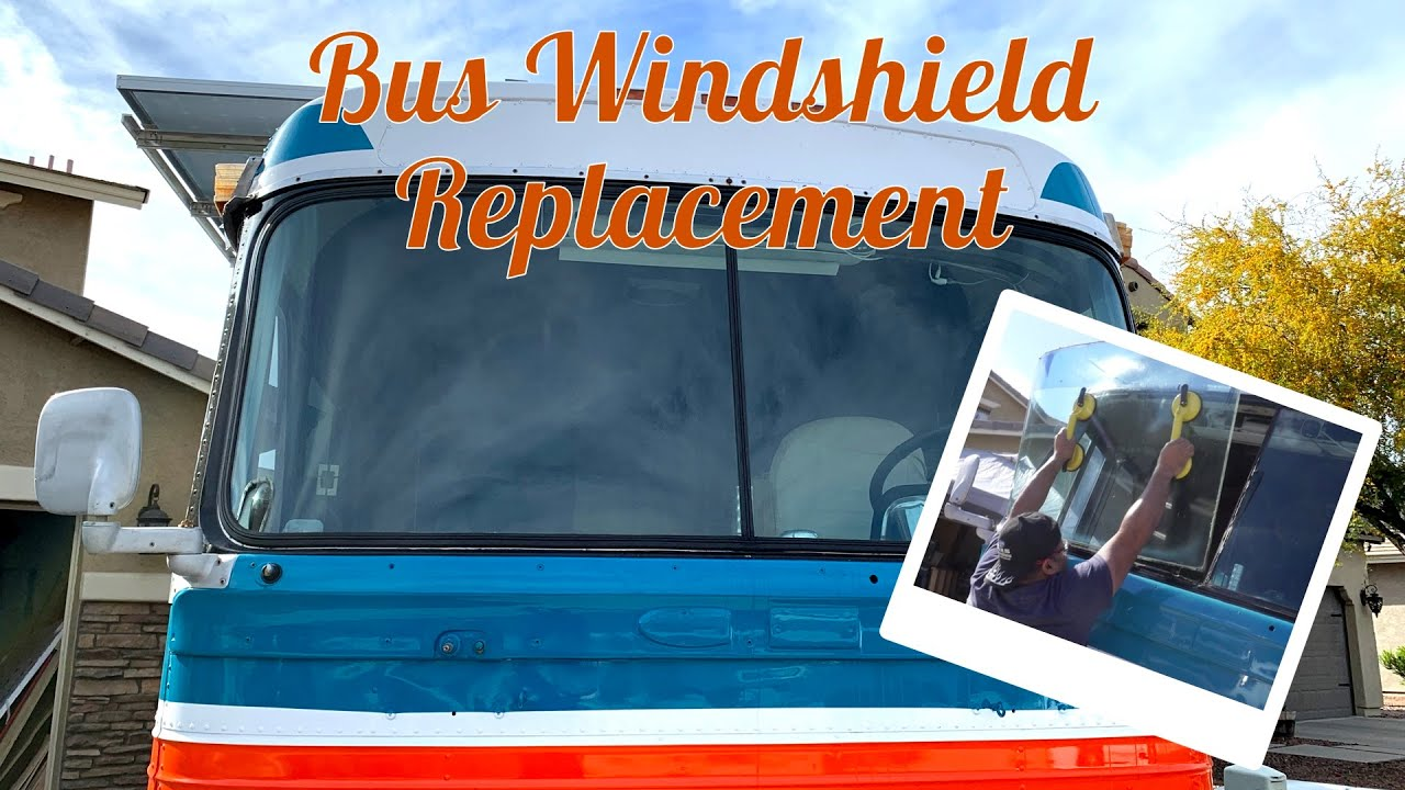 Replacing the Windshield and Locking Strip Gasket on a Vintage Bus - YouTube