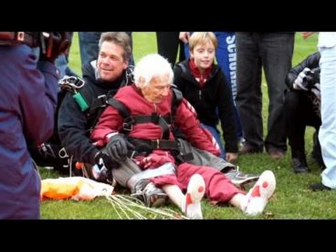 Eleanor Cunningham jumps out of plane for 100th birthday
